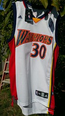 "My newest Golden State Warriors Jersey. This one is the throwback (98 season i think) one ID by ""Warriors across chest"". The Warriors won the Championship last year and are off to a 45 wins and 4 loss start. Stephen Curry was the MVP last year. #Warrior (RigsRocks) Tags: 30 thecity jersey dope rigsrocks champions whatisdope goldenstate mvp nba stephencurry warriors"