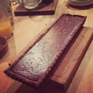 No exaggeration, the best dessert I've ever had. Sea salt and caramel chocolate tart 🙏🙏 @aliprater I hereby declare you the baking queen. #chocolate #heaven #baking #food #sweet #foodporn #saltcaramel