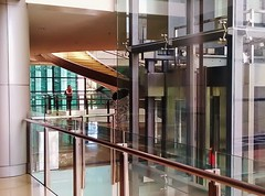 technology for art (SM Tham) Tags: building glass museum stairs spiral stainlesssteel gallery interior staircase malaysia column kualalumpur circulation visitor cladding handrails nationalbank balustrades lifts balusters banknegara sasanakijang