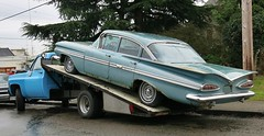 1959 Chevrolet Impala 4-Door Sedan (Custom_Cab) Tags: door blue chevrolet car sedan truck ramp 4 chevy impala 1959 4door