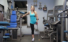 OV_lhdgym04 (cb_777a) Tags: russia cancer disabled crutches survivor handicapped amputee onelegged