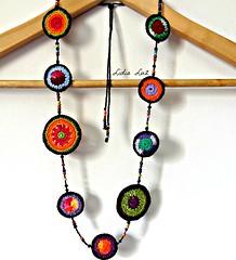 Mgico, colar de croch (Lidia Luz) Tags: necklace handmade crochet colar croch lidialuz
