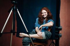 Dasha orange (Peter Pushkin) Tags: portrait girl 35mm studio photographer dasha   peterpushkin