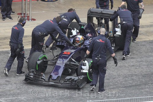Carlos Sainz Jr in the Toro Rosso during Formula One Winter Testing 2016
