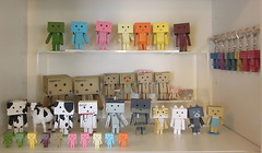 All My Danboards (MurderWithMirrors) Tags: kaiyodo mwm danbo revoltech danboard nyanboard