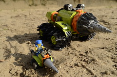 A Day with Dad! (Ddke) Tags: power lego mini thunder drill miners driller