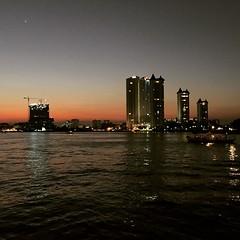sunset #bkk #ChaoPhrayariver Thai: # #bangkok... (avachen1019) Tags: travel sunset thailand bangkok bkk chaophrayariver uploaded:by=flickstagram instagram:photo=9410780087178799591263431001