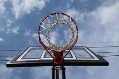 Hoop Dreams (dewane) Tags: blue sky net clouds hoop goal dreams basketballl