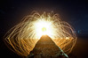 Fire Eye (alien_scream) Tags: light sea lightpainting eye beach water night circle fire heat anawesomeshot alienscream