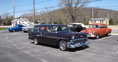 Blackjax Bar 4/10/2016 Purple 1956 Chevy Wagon (Speeder1) Tags: show street cruise two hot classic ford chevrolet car bar wagon rat purple pennsylvania muscle pa lane tavern rod 1956 55 goons aces 56 willys gasket blacktop eights birdsboro blackjax