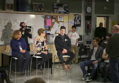 IMG_1962  Premier Kathleen Wynne engaged in a discussion with students from Danforth Collegiate and Technical Institute on financial assistance for post secondary education. (Ontario Liberal Caucus) Tags: school toronto college students education university highschool tuition potts coteau osap