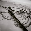 drawing octopus for blueprint (Danilo Sacco) Tags: design graphic drawing octopus inkart