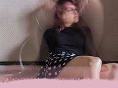 """J116/365  """"Manon aux bras long"""" (manon.ternes) Tags: pink paris girl rose vintage project photography student photographie photos 365 fille pinup personnes personne flou purplehair projet parisienne pinupgirl tudiante potique 365days 365project projet365"""