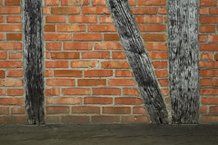 N Side (airSnapshooter) Tags: wood brick church wall pattern outdoor poland canoneos6d canonef50mm18stm wroblewo