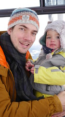 Daddy & Amelie (Madleeeen) Tags: family winter snow ski cold austria skiing hats sunny amelie grandparents kaiser wilder sledge sledging