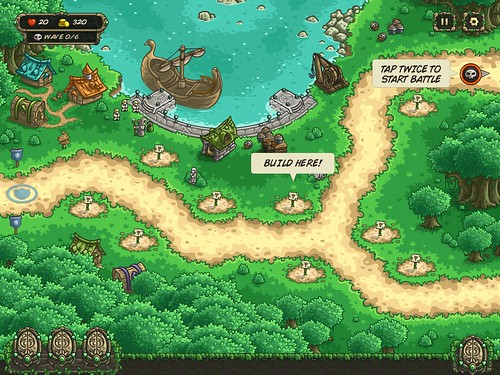 Kingdom Rush Origins Heads-Up Display: screenshots, UI