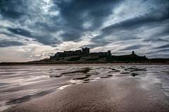 Bamburgh Castle (gallowaydavid) Tags: cloud castle beach reflections northumberland bamburgh bamburghcastle