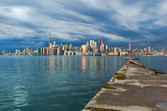 Toronto (explored) (Nicoli OZ Mathews) Tags: city toronto storm skyline landscape cntower thunderstorm downtowntoronto torontoislands wardsisland torontoskyline torontowaterfont