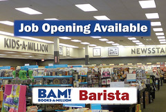 NOW HIRING: Cafe Barista (cullmantoday) Tags: county cafe search alabama books million opening job barista bam available cullman booksamillion