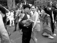 Dr. Takeshi Yamada and Seara (sea rabbit) visited the annual Gay Pride Parade in Manhattan, New York on June 28, 2015. The US President Obama and the Supreme Court Legalizes Gay Marriage Nationwide on June 26, 2015. 20150628 100_8387=015CBW (searabbits23) Tags: ny newyork sexy celebrity art hat fashion animal brooklyn painting asian coneyisland japanese star tv google king artist dragon god manhattan wildlife famous gothic goth performance pop taxidermy cnn tuxedo bikini tophat unitednations playboy entertainer takeshi samurai genius mermaid amc mardigras salvadordali unicorn billclinton billgates aol vangogh curiosities sideshow jeffkoons globalwarming takashimurakami gayprideparade pablopicasso steampunk yamada damienhirst cryptozoology freakshow barackobama samesexmarriage seara immortalized takeshiyamada museumofworldwonders roguetaxidermy searabbit ladygaga climategate minnesotaassociationofroguetaxidermists
