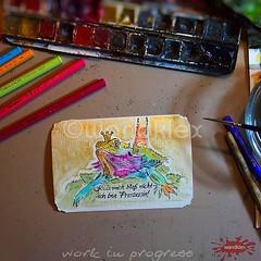 Gnihi, auch so kann ein #wandklex... (wandklex Ingrid Heuser freischaffende Knstlerin) Tags: art watercolor painting reptile kunst wip watercolour watercolors watercolours terrarium comission echse drache reptil aquarell custompaint reptilien prinzessin agame bartagame bartagam etsyshop meetthemaker auftragskunst auftragsmalerei dawandashop wandklex uploaded:by=flickstagram instagram:venuename=bahnhofratzeburg instagram:venue=51075171 instagram:photo=12016522116284444981487357881 etsyresolution2016 etsyresolutionde hahnem