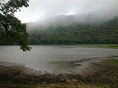 Lake in the crater of the volcano Madera