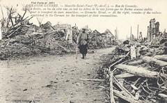Givenchy Street, La Grande Guerre - Paris, France (The Cardboard America Archives) Tags: france vintage war postcard worldwari bombing cityinruins