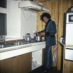 Jimi Hendrix in his kitchen at 34 Montagu Square, London, 1967.[1200x1192] #HistoryPorn #history #retro http://ift.tt/1Tk0Lwr (Histolines) Tags: london history kitchen square retro his timeline hendrix jimi 34 montagu vinatage historyporn histolines 19671200x1192 httpifttt1tk0lwr
