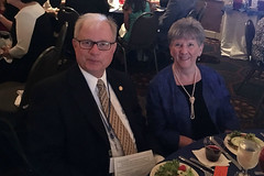 """Club member Jim and his wife Janet Morgan enjoying the Governor's Banquet at the 2016 District Conference.Photo credits: Ed SmallwoodMore information: <a href=""""http://northraleighrotary.org/2016-district-conference"""" rel=""""nofollow"""">northraleighrotary.org/2016-district-conference</a>"""