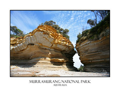 Cracked and Eroded by Nature (sugarbellaleah) Tags: travel texture tourism beautiful nationalpark sandstone scenery pretty pattern place scenic australia canyon weathered geology cracked chasm headland eroded durras permian triassic wasphead murramurangnationalpark