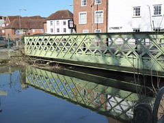 Green bridge reflecting in the Great Stour in Canterbury (P1040610) (alg24) Tags: uk bridge england reflection water reflections river reflecting kent flickr bridges canterbury rivers reflective greatstour