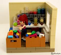 Sorting bricks (1982redhead) Tags: lego fig interior sig vignette sorting eurobricks