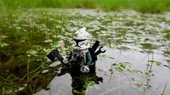 Scavenger (JAlexanderHutchins) Tags: water grass lego mud axe clone