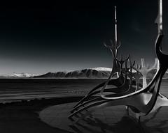 Solfar Mono (Marshall Ward) Tags: winter sculpture landscape mono iceland europe reykjavik slfar 2015 nikond800 afszoomnikkor2470mmf28ged marshallward