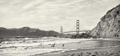 Golden Gate Bridge from Baker Beach (basarno) Tags: sanfrancisco goldengatebridge bakerbeach presidio fujixt1