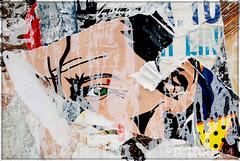 post pop green eye (piktorio) Tags: wallpaper man berlin face germany poster comic glue cartoon ripped strip torn oneeye gooey fragments decollage lacerated piktorio alaliechtenstein
