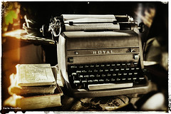 1953 Royal HHP (Sierragoddess) Tags: old fiction white black classic typewriter metal vintage paper keys office keyboard message antique background steel object creative royal machine rusty books retro business nostalgia memo page northdakota type letter editorial sheet write secretary past author publishing isolated journalism correspondence oldfashioned 1953 publish outdated compose playwriting secretarial correspond darlahueske