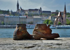 Shoes on the Danube Bank (YDekkers) Tags: holocaust shoes sad budapest neverforget danube warmonument