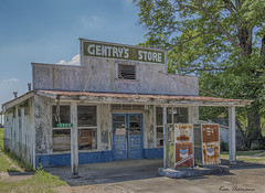 Gentry's Store... (Ken Thomann Photography) Tags: trees nature glass architecture clouds canon buildings mississippi landscape photography store vines highway rust iron quiet traffic unitedstates outdoor earlymorning wideangle oldbuildings gasstation explore april chevron f8 hdr oldwood gravel notrespassing unleaded gaspumps reallyrightstuff deepsouth canon6d canon1635mmf28lii outinnature kenthomannphotography