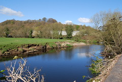 Reflections on the Calder (Halliwell_Michael ## More off than on this week #) Tags: blue trees sky reflection water reflections landscapes spring rivers riverbank westyorkshire springtime brighouse 2016 rivercalder brookfoot nikond40x reflectionslovers brighousespringmarket
