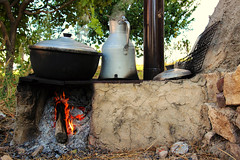 A Man's Happiness is at Where His Cooker Smokes (kaizerdar) Tags: life fire countryside village smoke pot clay stove hearth cooker eskiehir modest gnyz tamronaf1750mmf28spxrdiiildasphericalif canoneos600d