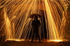 Raining Fire (Steph J Clarke) Tags: longexposure bridge light wool portraits exposure dudley lighttrails wirewool baggeridge baggeridgecountrypark
