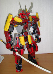 LEGO RED Samurai Warrior [M.O.C] (demon14082001) Tags: red robot lego technic warrior samurai katana creature bionicle mecha moc