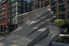 Fan Bridge - Merchant Square (James D Evans - Architectural Photographer) Tags: bridge westminster architecture design footbridge paddington separation lifting paddingtonbasin merchantsquare liftingbridge openingbridge fanbridge ribaawards knightarchitects