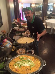 Come and get it! Chef John Carriiere from The Fairfield House is laying out brunch for our hungry entrepreneurs. Want to taste? Lick the screen, it's delicious!