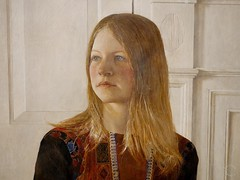 Detail: Siri by Andrew Wyeth 1970. Brandywine River Museum of Art. Denver Art Museum, Andrew and Jamie Wyeth in the Studio (Travel to Eat) Tags: portrait woman wyeth siri andrewwyeth