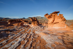 Stone Dragons (Jeffrey Sullivan) Tags: travel red copyright usa jeff nature rock canon landscape photography march photo sandstone bureau united nevada management mesquite land states sullivan formations blm eroded 2015 5dmarkiii