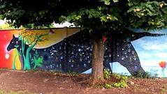 (d)espacio... (Felipe Smides) Tags: mar mural bosque taller resistencia fuego pintura tierra espacio valdivia mapuche brotes territorio muralismo lanco existencia smides felipesmides