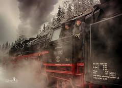 Dampflok (Schneeglöckchen-Photographie) Tags: thüringen eisenbahn railway locomotive dampflok oberhof
