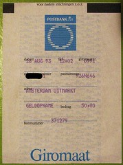 Uitmarkt Amsterdam (streamer020nl) Tags: bon amsterdam postbank 1993 uitmarkt giromaat